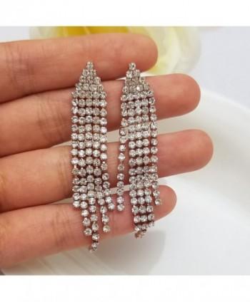 SELOVO Austrian Chandelier Bridesmaid Earrings in Women's Drop & Dangle Earrings