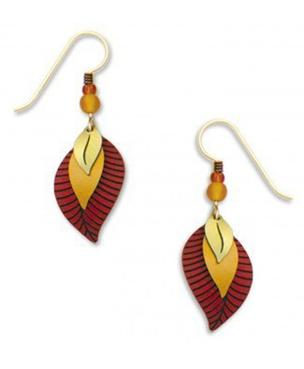 Adajio By Sienna Sky Autumn Red Brown Leaf 3 part Earrings 7023 - CH11BS0IV2R