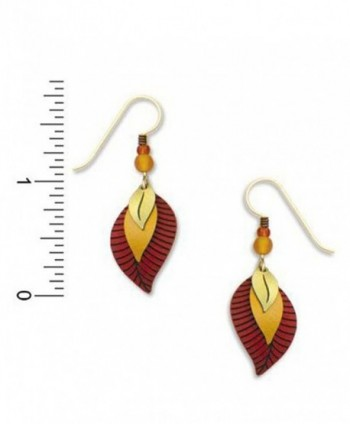 Adajio Sienna Autumn Brown Earrings in Women's Drop & Dangle Earrings