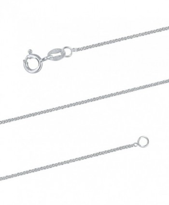 Sterling Silver 1.3mm Cable Chain Necklace Solid Italian Nickel-Free- 15-20 Inch - CN18802U4L2