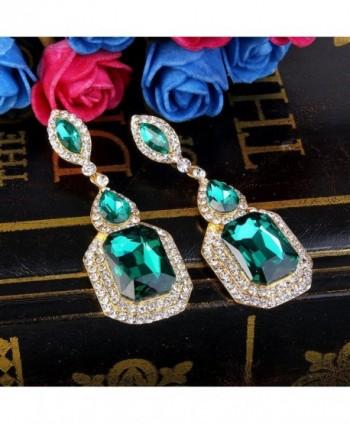 BriLove Infinity Chandelier Earrings Gold Tone