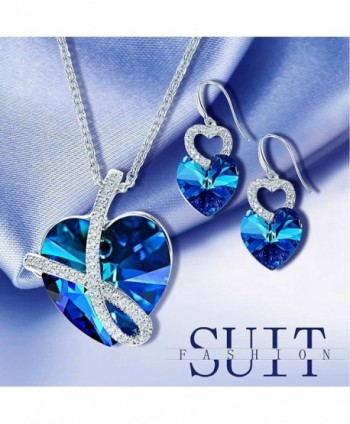 Sapphire Crystals Swarovski Necklace Anniversary