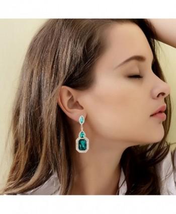 BriLove Infinity Chandelier Earrings Gold Tone in Women's Drop & Dangle Earrings