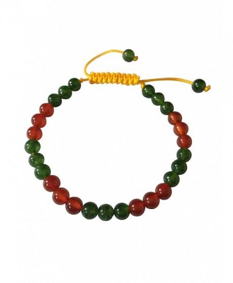 Tibetan Mala Green Jade Agate and Carnelian Wrist Mala Yoga Bracelet for Meditation - CQ127N80IDR