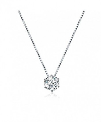 Florensi Sterling Zirconia Solitaire Necklace - CA188NSIQMM