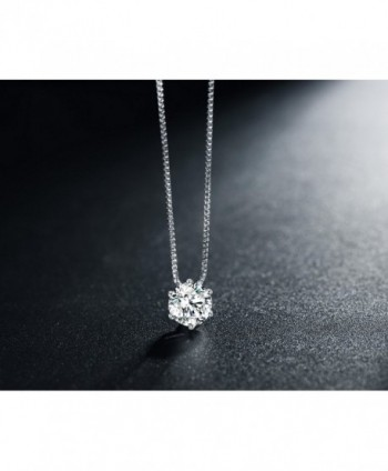 Florensi Sterling Zirconia Solitaire Necklace