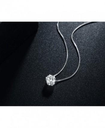 Florensi Sterling Zirconia Solitaire Necklace in Women's Pendants
