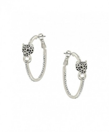 Liavys Leopard Fashionable Earrings Sparkling - Rhodium Plated - CH17Y7M6ME8