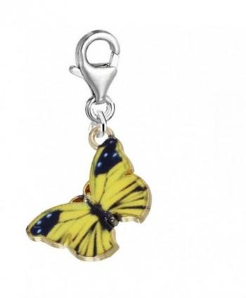 Clip on Butterfly Charm Pendant for Bracelets or Necklaces - C3128TDL7TJ