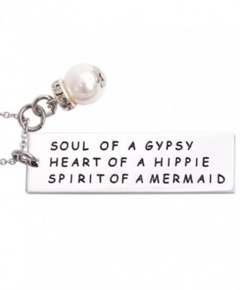 Soul of a Gypsy Necklace Sister Necklace Hippie Necklace Gift for Best Friend Mermaid Necklace - Necklace - C4185XDLZ03