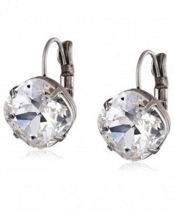 "Sorrelli ""Crystal Clear"" Single Drop Crystal Earrings - C611JG9SUPF"