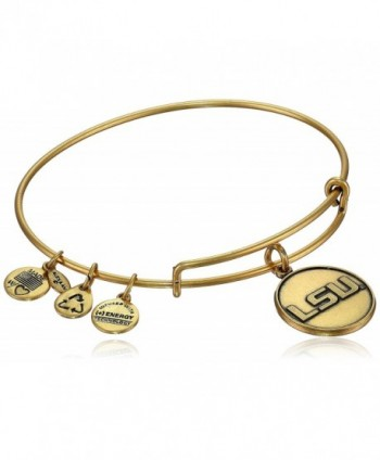 Alex and Ani Collegiate Louisiana State University Logo Expandable Wire Bangle Bracelet - CJ119RCLDO1