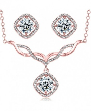 Jewelry V Necklace Earrings Necklaces Christmas - 2-V-Necklace Rose Gold - CY185DW48OK