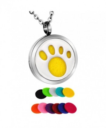 "HooAMI Aromatherapy Essential Diffuser Necklace - ""		 	 Paw	 	"" - CM12MFUU207"