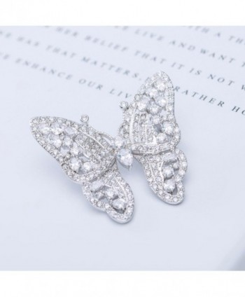 GULICX Shinning Butterfly Brooch Zirconia in Women's Brooches & Pins