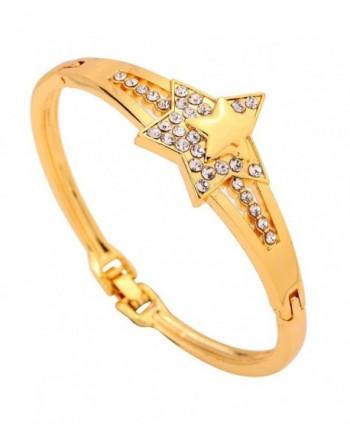 YAZILIND Jewelry Elegant Design Star Shape Bracelet Bangle Bangle Bangle for Women - CS11I6PILU9
