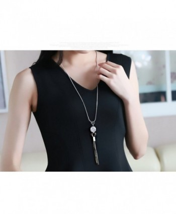 Z Jeris Fashion Jewelry Rhinestone Necklace in Women's Pendants