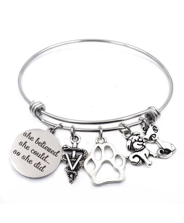 Veterinarian Bracelet Adjustable Caduceus Graduation - CF185RTLXN0