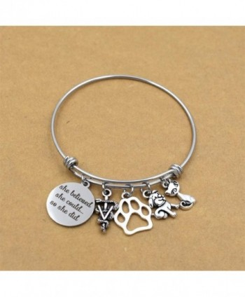 Veterinarian Bracelet Adjustable Caduceus Graduation