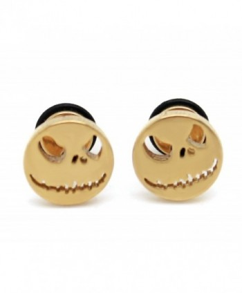 Chelsea Jewelry Basic Collections Gold Color Naughty Ghost Screw-back Stud Earrings - CX11E7EWHCB