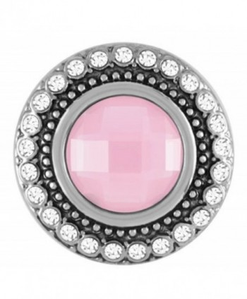 Ginger Snaps HEIRLOOM FROSTY PINK SN09-25 (Standard Size) Interchangeable Jewelry Snap Accessory - CB12BNA1F87