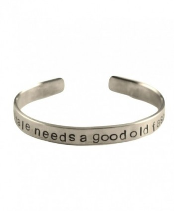 Sherlock Inspired - Every Fairytale Needs A Good Old Fashioned Villain - A Hand Stamped Aluminum Bracelet - CM11JA4XVRH
