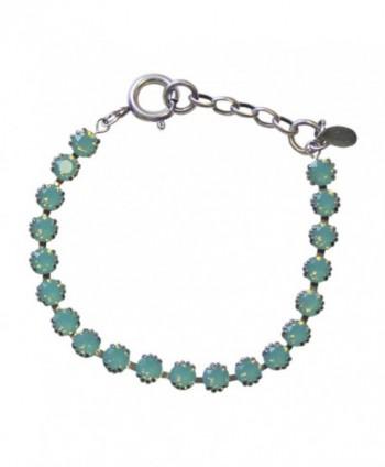 Catherine Popesco La Vie Parisienne Pacific Blue Swarovski Crystal Silvertone Bracelet - CI11AQUJU7J