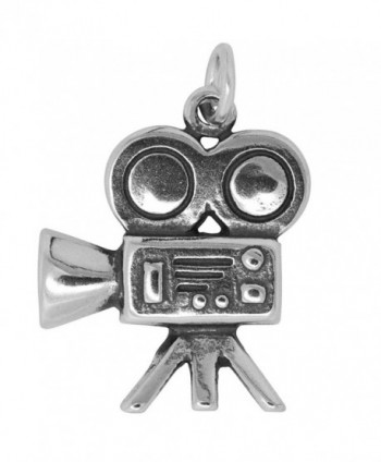 Sterling Silver Movie Camera Charm (Approximately 20 x 16 mm) - CW12MEI744R