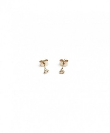 HONEYCAT Tiny Trinity Ball Stud Earrings in Gold- Rose Gold- or Silver | Minimalist- Delicate Jewelry - Gold - CC17XE8GWZS