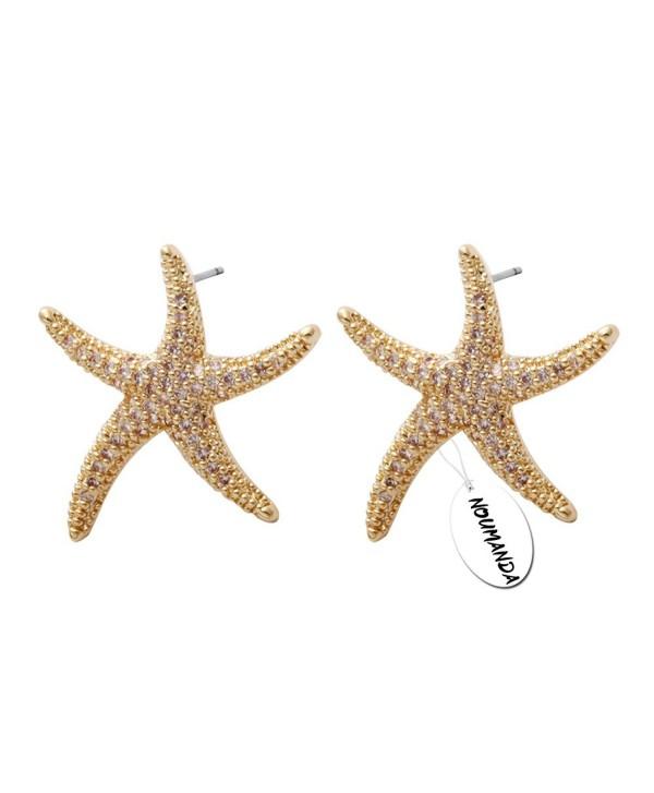 NOUMANDA Sweet Starfish Earrings-Gold Star Earrings for Women Fashion Jewelry Casual Women Accessories - CF12J3LUIQT
