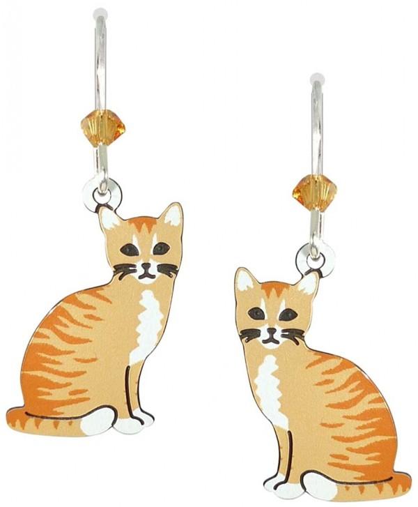 Sienna Sky UV-Printed Orange Tabby Cat Earrings 2008 - CV12OC2X8LQ