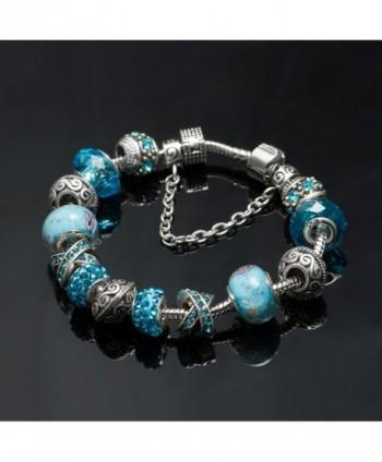 Charm Bracelet Crystal Murano Flower