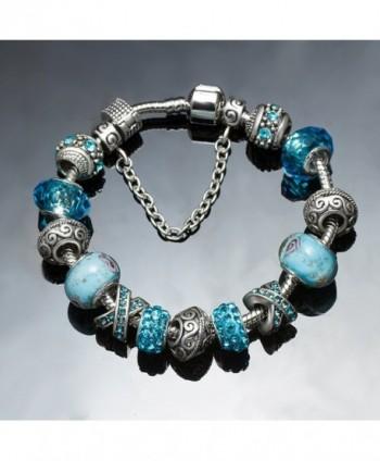 Charm Bracelet Crystal Murano Flower in Women's Charms & Charm Bracelets