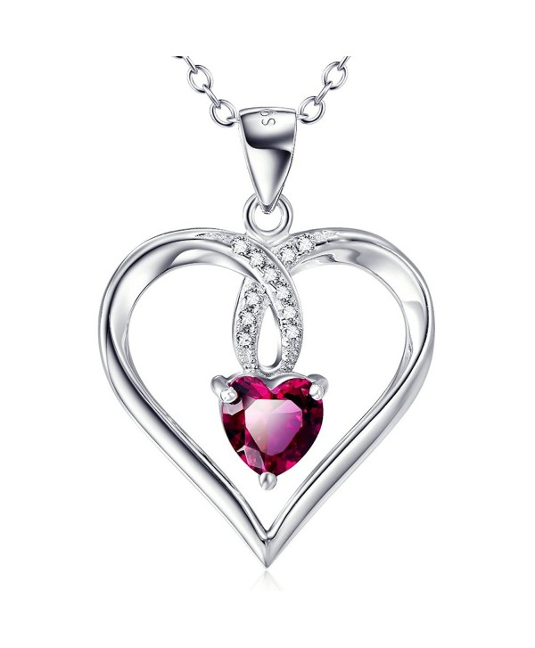 """S925 Sterling Silver I Love You To The Moon And Back Charm Forever Love Heart Pendant Necklace For Women- 18"""" - CN12EMLWT3F"""
