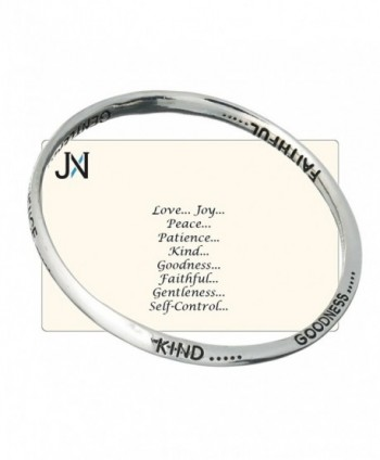 Love Joy Peace Patience Kindness Goodness Faithfulness Gentleness Self-control Twist Bangle Bracelet - CA11FIPRHOB