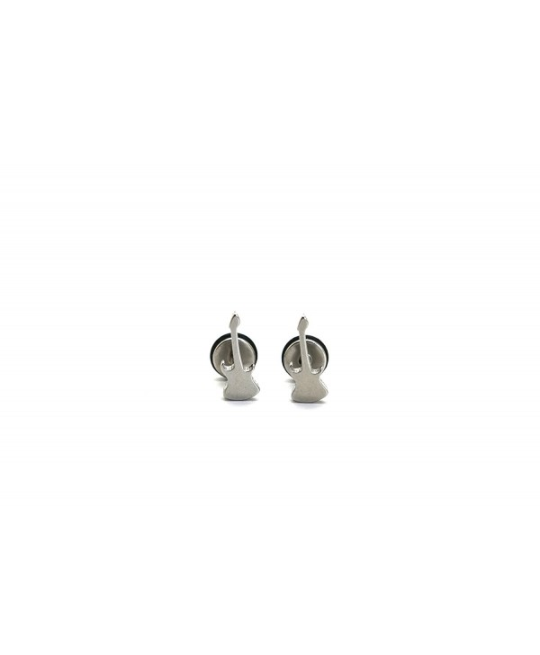Chelsea Jewelry Basic Collections Guitar shaped Stud screw-back Earrings - Stainless Steel - C712EET0OI7