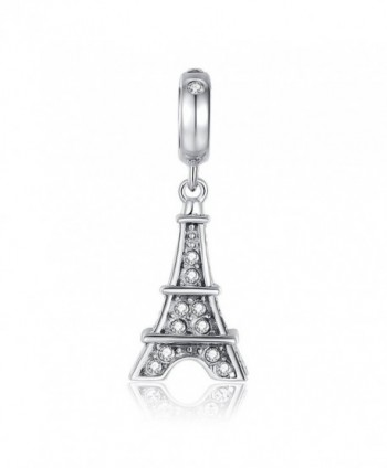 Glamulet Jewelry - Eiffel Tower Dangle Dangle Charm -- 925 Sterling Silver - C611U3UF0T5