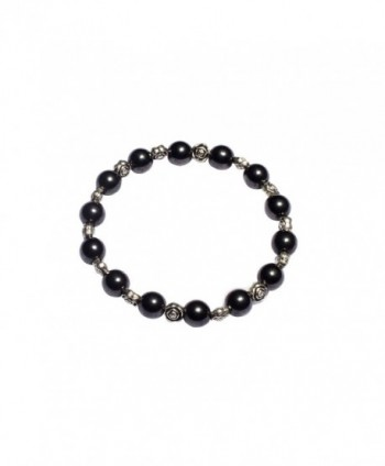 USWEL Women's Hematite Bracelet Adjustable Magnetic Healing Hand Made Crystals and Antique Beads - CX1850IXUA8