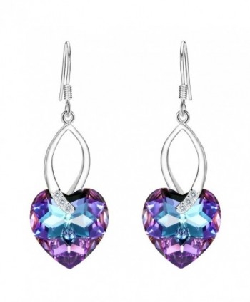 EleQueen Sterling Earrings Swarovski Crystals - Vitrail Light - CK12N6BGQ45