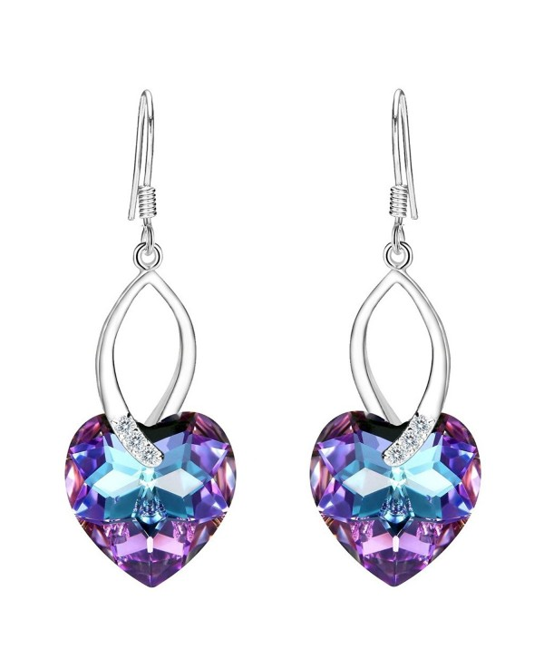 EleQueen Sterling Earrings Swarovski Crystals - Vitrail Light - CK12N6BGQ45