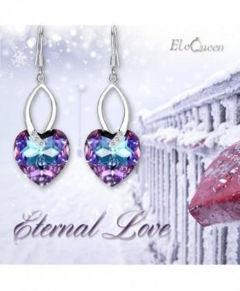EleQueen Sterling Earrings Swarovski Crystals