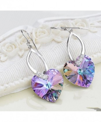 EleQueen Sterling Earrings Swarovski Crystals in Women's Drop & Dangle Earrings