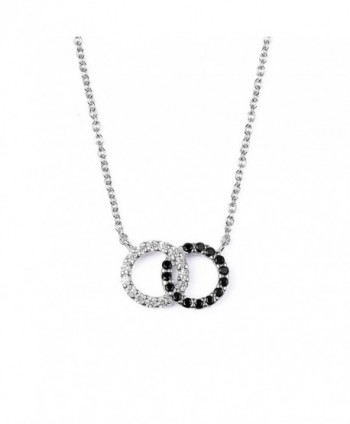 Sterling Zirconia Interlocking Circles Necklace - CY12KJNAZUD