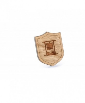 Guillotine Lapel Pin- Wooden Pin And Tie Tack   Rustic And Minimalistic Groomsmen Gifts And Wedding Accessories - CB182LX2URT
