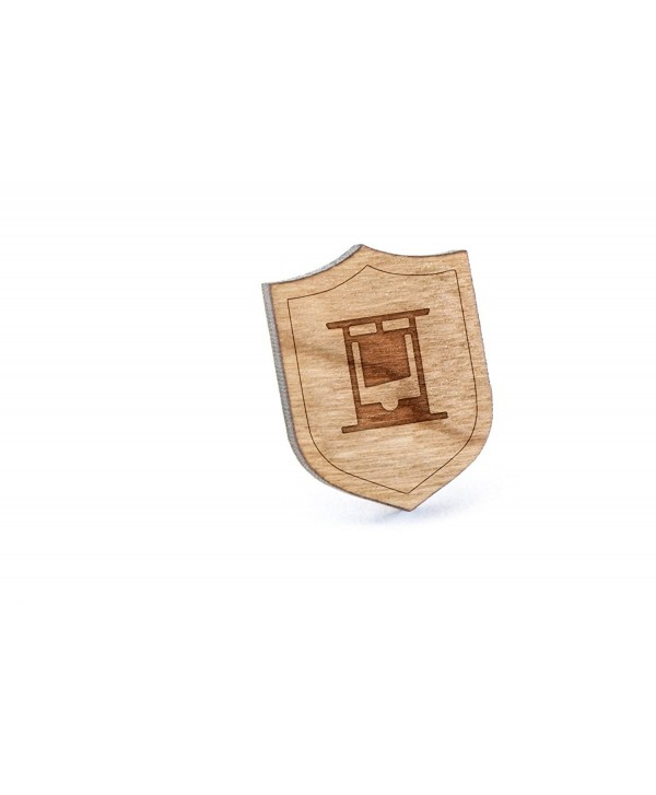 Guillotine Lapel Pin- Wooden Pin And Tie Tack | Rustic And Minimalistic Groomsmen Gifts And Wedding Accessories - CB182LX2URT