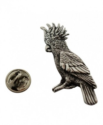 Cockatoo Pin ~ Antiqued Pewter ~ Lapel Pin ~ Sarah's Treats & Treasures - CG12O699C6M