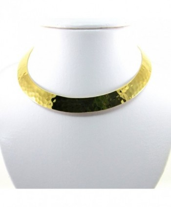 Hammered Neckwire Adjustable Fashion JE 0069N in Women's Choker Necklaces