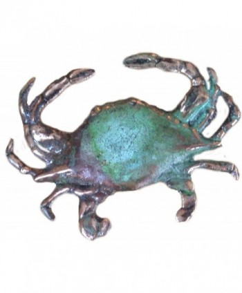 Verdigris Patina Solid Brass Crab Pin - CX1170XHG31