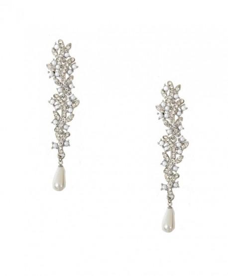 Topwholesalejewel Bridal Earrings Silver White Pearl Dangle Earring - CW11WEMK09F