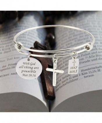 Bible Verse Inspirational Religious Bracelets possible in Women's Bangle Bracelets